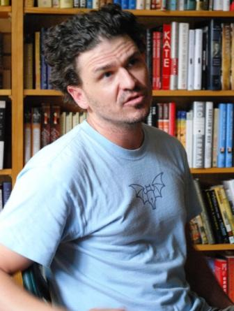 Dave Eggers at Octavia Books, photo by Tom Lowenburg